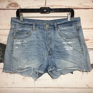 American Eagle Outfitters Ripped Cutoff Shorts 10